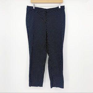 4/$25 Ellen Tracy Black Polka Dot Cropped Pants 10